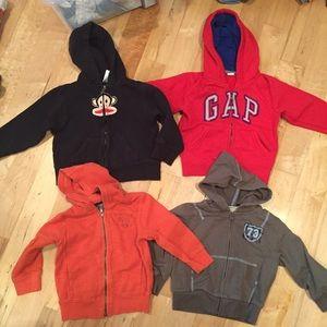 Other - Boys full zip hoodies bundle - gap / Paul Frank